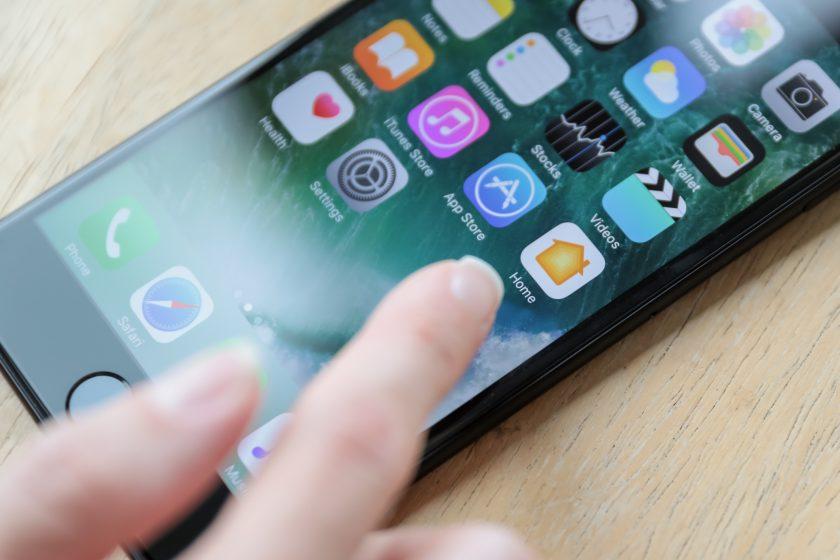 En moderne smarttelefon-meny